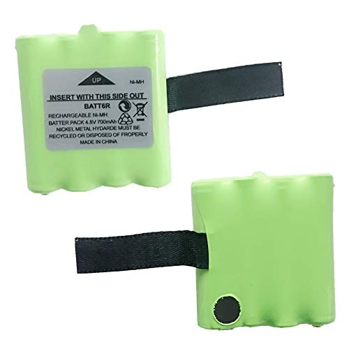BATT6R Battery, TFSeven 2Pcs 700mAh AVP8 4.8V Rechargeable Replacement Batteries for Midland Two Way Radio Walkie Talkie Coaster