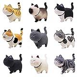 Tpocean 9 Unidades de Figuras de Gato para decoración del Interior del Coche o el hogar,...