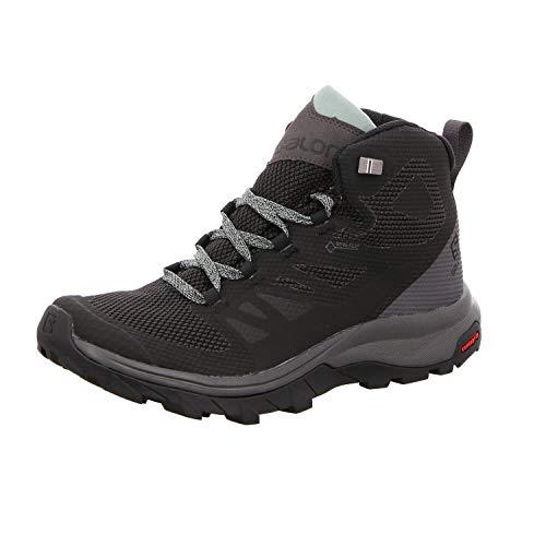 Salomon Outline Mid Gore-Tex (impermeable) Mujer Zapatos de trekking, Negro...