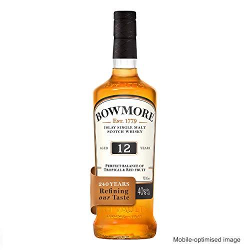 Bowmore 12 Jahre Single Malt Scotch Whisky, mit Geschenkverpackung, ausgewogen mit rauchigen Geschmacksnoten, 40% Vol, 1x 0,7l - 5