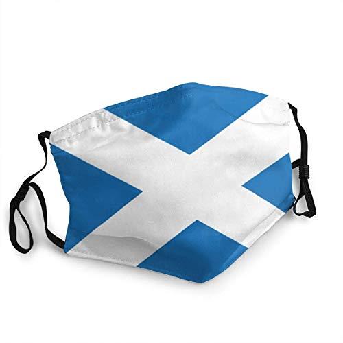 AYGoUP Gesichtsschutz Mundschutz Flagge Schottland Wiederverwendbarer Nasenschutz Waschbar staubdicht gegen Verschmutzung