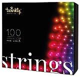 Twinkly - Tira de 100 Luces LED RGB Multicolor TWS100STP - Luces LED de Navidad Controladas por App, Cable Negro de 8 m - Compatible IoT y Razer Chroma - Decoración Interior y Exterior
