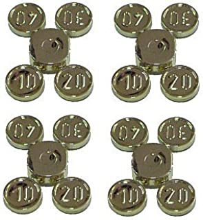 Lego Pirates Western Chrome Gold Minifig, Utensil Coins Complete Set Type 1 on Sprue (10, 20, 30, 40) x4 Loose Sprues