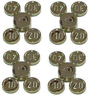 LEGO CITY - 16 GOLDMÜNZEN (4 Streifen wie abgebildet) - LEGO GELD - MÜNZEN - SCHATZ - für Minifiguren / Sammelfiguren