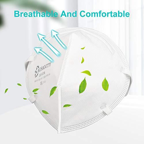 10 X AOSANITY FFP3 Atemschutzmaske - Konforme Maske EN 149:2001+A1:2009, Maske mit mehrschichtigem System, hoher Filtrationskapazität Zusätzlicher Komfort und Sicherheit - 4