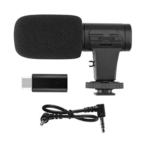 YOYOHO Mini Adaptador de micrófono portátil Micrófono de 3,5 mm para micrófono de cámara