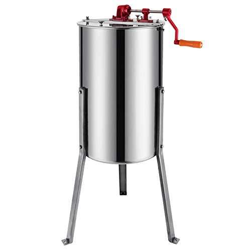Moracle Extractor de Miel Manual 3 Frame Honey Extractor Extractor de Miel Acero Inoxidable 61cm