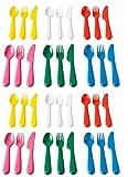 Ikea Kalas 804.213.32 18-Piece BPA-Free Flatware Set, Multicolored