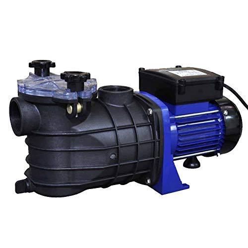 Bomba para piscina eléctrica de 500 W, caudal de 9000 l/h, bomba de filtración, bomba para piscina, bomba de circulación, azul