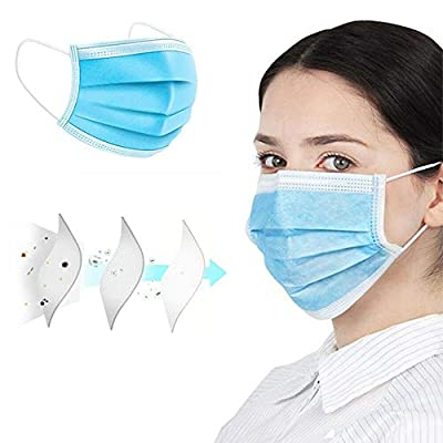 10PCS Thick 3-Ply Face Shield with Elastic Ear Loop Cover Full Face Anti-Dust from eZthings