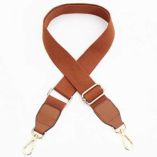 LLZY Bolsa de Correa para el Cuerpo de la Cruz O Bolsa Accesorios de cinturón DIY Mujeres Hombro Manijas Sólido Color Bolso Correa Piezas de suspensión Ajustables (Color : Yellow Brown)