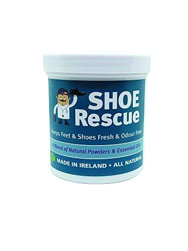 Fuß-und Schuhpuder 100g - Fußgeruch-Entferner und Eliminator - Entwickelt von einem registrierten Fußpfleger Shoe Rescue ist ein völlig natürliches Mittel, um stinkende Schuhe und Füße zu beseitigen - Enthält schöne ätherische Öle Teebaum Lavendel und Pfefferminze - hilft auch Athleten Fuß und Pilz Bedingungen