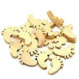 Uteruik - Adornos de Madera para Manualidades, decoración rústica, Botones de Boda, Manualidades, Costura, 1 Unidad (y-#30)