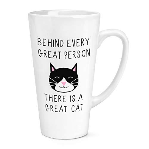 Derrière Chaque Bonne Personne Est un Bonne Chat 17oz Large Latte Tasse Mug