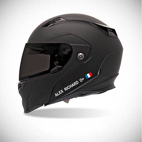 Pegatina autoadhesiva para casco de moto, adhesivo con identidad de colores