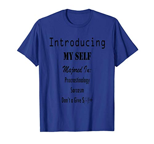 Introducing My Self T-shirt - Majored In College Academic T-Shirt