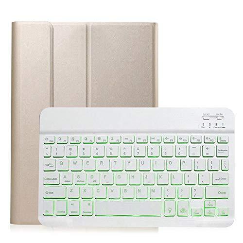 GHC PAD Fundas & Covers Para Huawei Matepad 10.4 V6 2020, Funda de cuero de teclado desmontable con retroiluminación Bluetooth Soporte de teclado inalámbrico Bluetooth ULTA-SLIM Flip Funda para Huawei