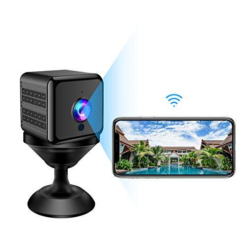 Mini Kamera, 1080P FHD Mini Überwachungskamera WLAN Super Infrarot Nachtsichtkamera für Innen Sicherheitskamera mit Bewegungserkennung und Magnet Lange Batterielaufzeit Minikamera