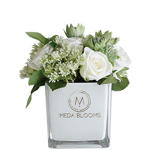 Achnr Einfache, kleine und frische, rosafarbene Simulation Blume Topf dekorative Blumen, Couchtisch, Esstisch, Blumendekoration, Schlafzimmeranzeige