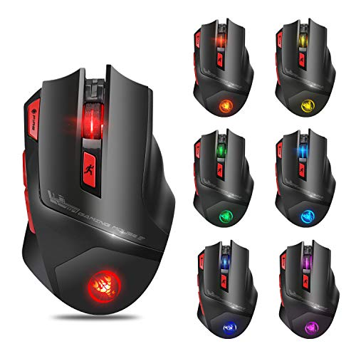 USB 2.4GHz 7D 4800DPI Wireless Mice Optical Gaming Mouse for Laptop Desktop PC (T88)