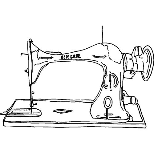 A8 'Sewing Machine' Unmounted Rubber Stamp (RS00021795)