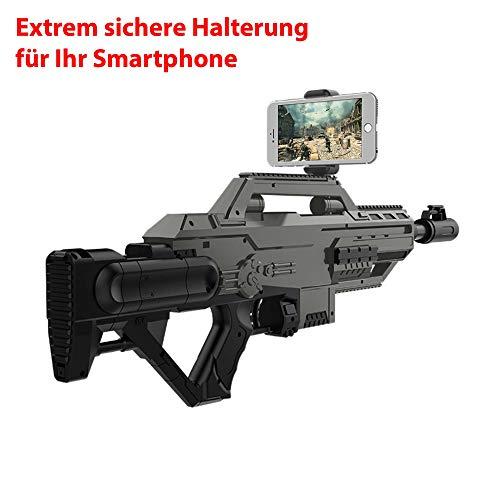 HSP Himoto AR Augmented Reality Gun Pistole, Maschinengewehr für interaktive Bluetooth Video Spiele mit dem Smartphone, Kompatibel mit Android und IOS, Neu OVP