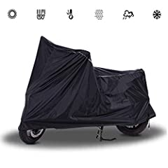 This motorcycle cover is made of Dacron waterproof material and sewed neatly by the machinist,it has excellent protective effect This motorcycle cover comes in three sizes and can be applied to almost all sizes of motorcycles,you can purchase after m...