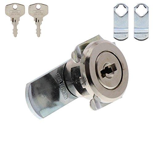 BURG-WÄCHTER Universalzylinder, Hebelschloss, Für Materialstärke von  1 bis 2 mm, vernickelt,  ZS 81 - 3