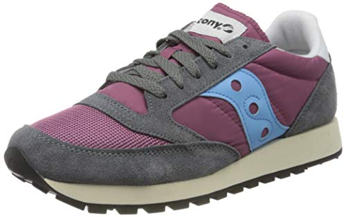Saucony Herren Jazz Original Vintage Sneakers, Violett (Purple/Grey/Blue 52), 41 EU