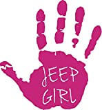 Jeep Girl Wave Decal - Jeep Wave - Jeep Decal