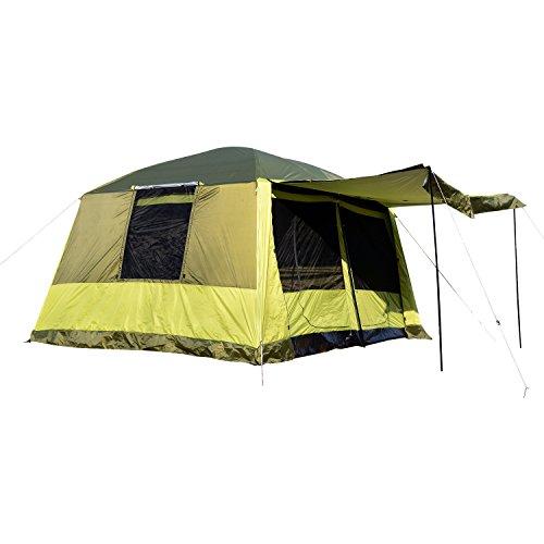 Outsunny Tenda da Campeggio con Veranda 8 Persone 410×310×225cm