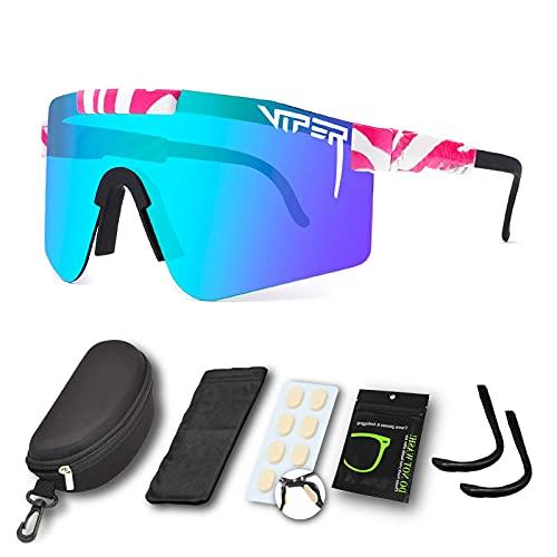 Gafas de sol deportivas para hombres y mujeres, gafas de ciclismo al aire libre, gafas de sol polarizadas de doble ancho UV400, gafas de sol resistentes al viento, para montañismo, senderismo u otras actividades al aire libre (C21)