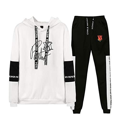 Aibayleef Payton Moormeier Conjunto Dos Piezas Completo Capucha Sudadera Blusa y Pantalon para Mujer Hombre Chandal Gimnasio Sportwear Tracksuit A31117-TZ01-2-S