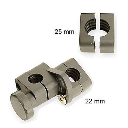 Orig. MPB bevestigingsklem ST 22/25, vervangende bevestiging geschikt voor MPB rolgordijnen, met 2 ronde klemmen van 22 of 25 mm diameter