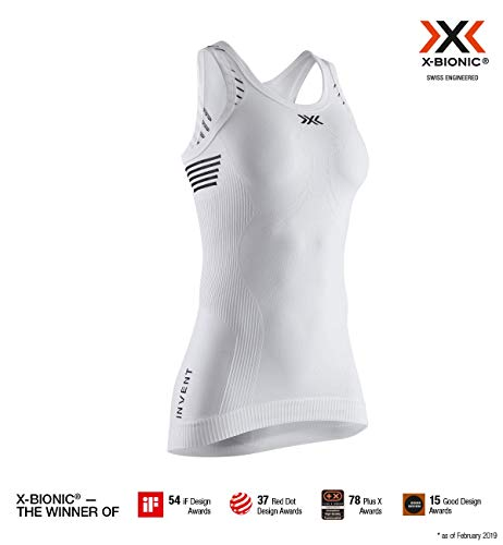 X-Bionic Invent Light Singlet Women, T Shirt Donna, Arctic White/Dolomite Grey, M