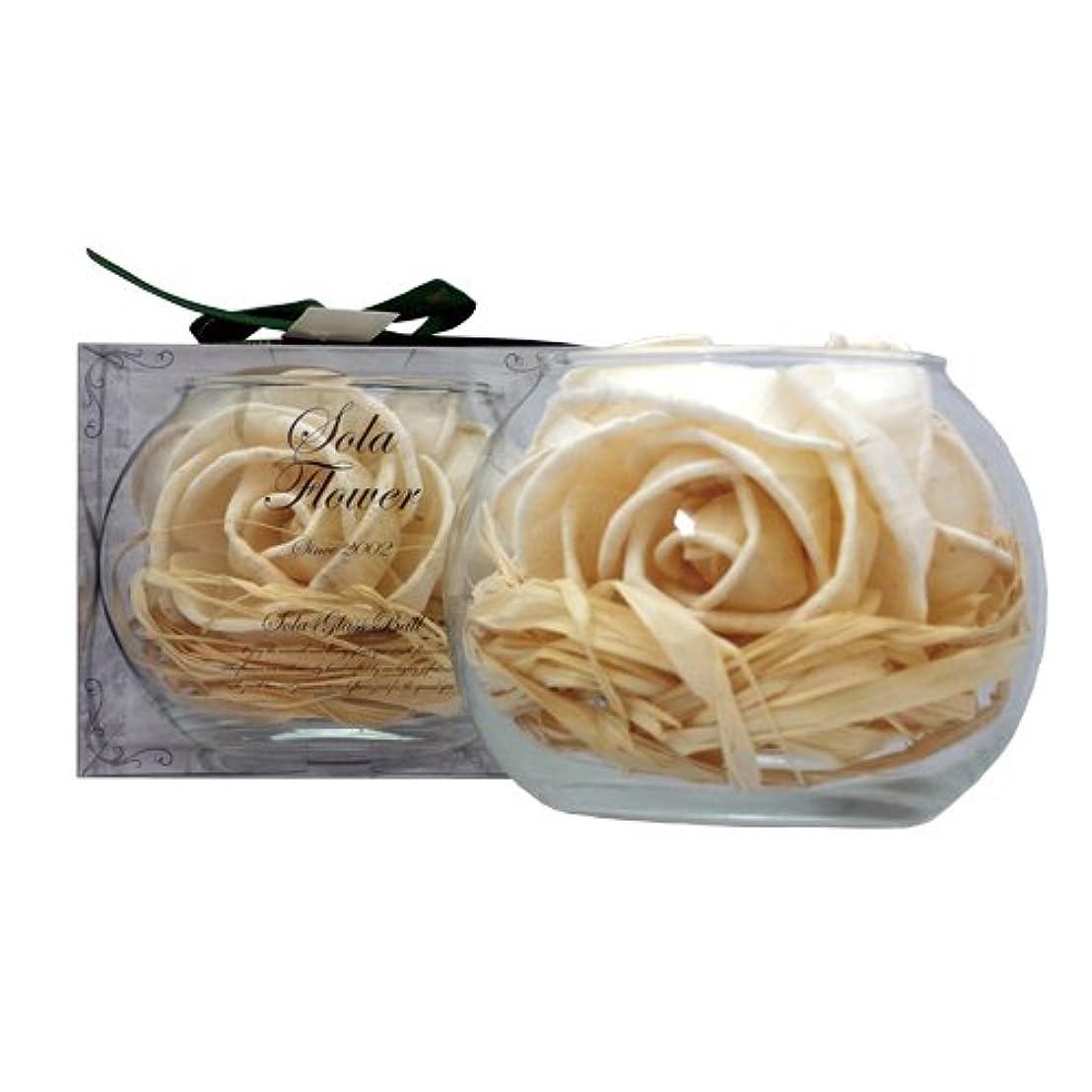 バスふくろう悲惨new Sola Flower ソラフラワー グラスボウル Gentle Rose ジェントルローズ Glass Bowl