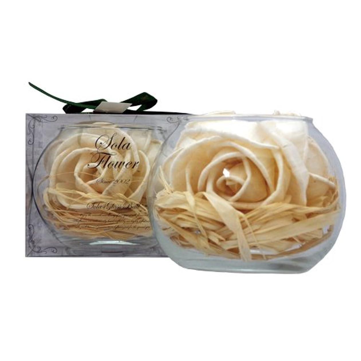 プライバシーセクタポーチnew Sola Flower ソラフラワー グラスボウル Gentle Rose ジェントルローズ Glass Bowl