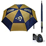 """Team Golf NFL 62"""" Golf Umbrella with Protective Sheath, Double Canopy Wind Protection Design, Auto Open Button, St. Louis Rams"""