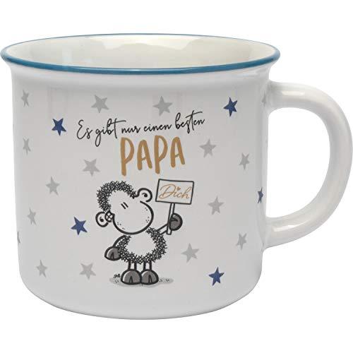 Sheepworld 46857 Kaffee-Becher Papa mit Sternen, Steinzeug, in Geschenk-Box Tasse, Steingut