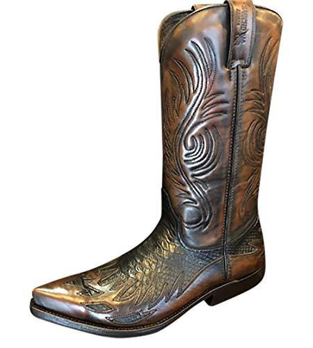 Sancho Boots Cowboystiefel Westernstiefel 6397 Phyton Imitat bereits besohlt (Numeric_45)