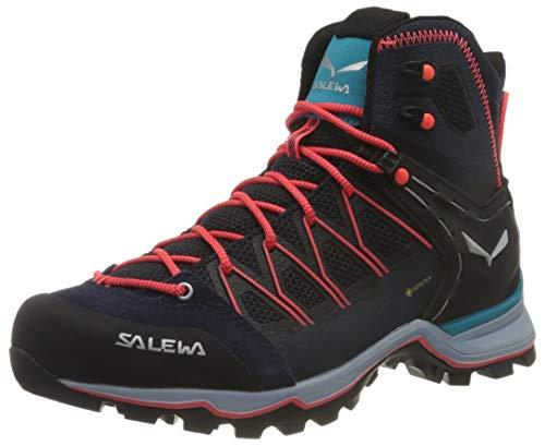 Salewa Damen WS Mountain Trainer Lite Mid Gore-TEX Trekking-& Wanderstiefel, Premium Navy/Blue Fog, 37 EU