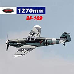 What are included:Dynam BF-109 airplane, motor, ESC, 4*9g servos What are required (Not Included):6-Channel or above transmitter; 6-Channel receiver; 14.8V 2200mAh 25C battery and charger; 1 hour assembly time Material: EPO Foam Flying Weight: 1250g ...