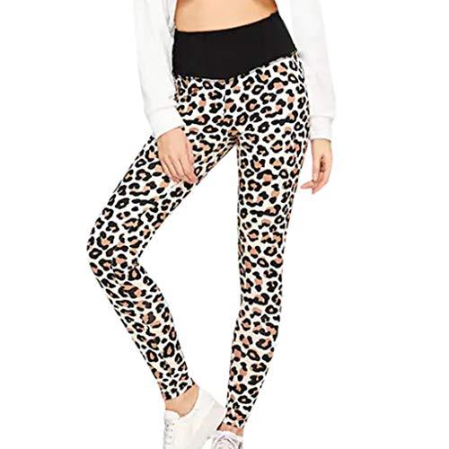 Zarupeng Dames Leopard Workout Leggings Skinny Yogabroek Fitness Sport Hardlopen Pants Elastische Taille Heups Vrijetijdsbroek