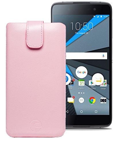 Original Favory Etui Tasche für BlackBerry DTEK50   Leder Etui Handytasche Ledertasche Schutzhülle Hülle Hülle Lasche mit Rückzugfunktion* in rosa