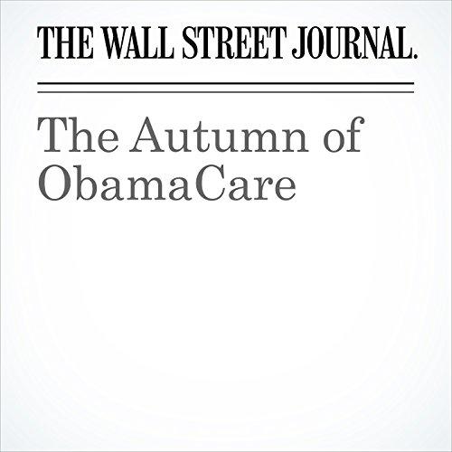 The Autumn of ObamaCare copertina