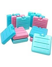 ToCi Kleine koelaccu's in blauw, roze en groen, mini-koelelementen voor de koeltas, koelaccu voor de broodtrommel.