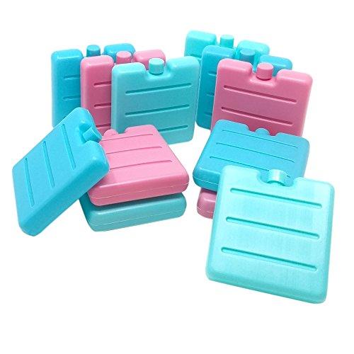ToCi Haushalt Petite froid dans bleu, rose et vert | Mini Éléments de refroidissement pour les Sac isotherme | Batterie de refroidissement pour les Boîte à pain 12