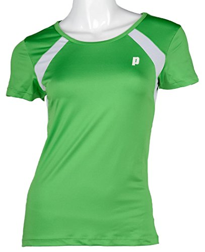 Prince Jr Crew Neck tee Camiseta de Tenis, Unisex niños, Verde/Blanco, 10 USA