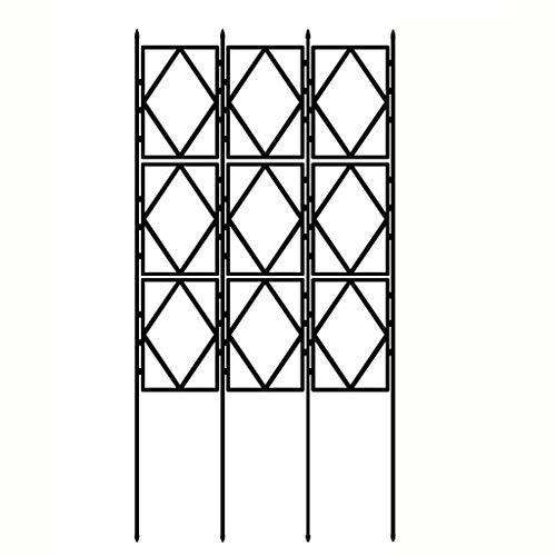 HXZ Soporte de flores, soporte de escalada, rosa de escalada clemátis, partición interior y exterior, marco de soporte de balcón de jardín