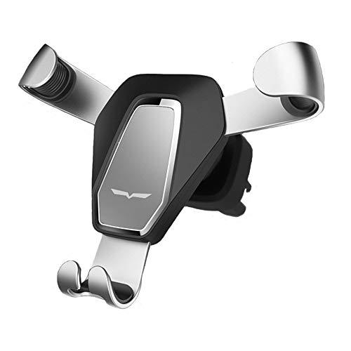 WESHANG Gravity Car Phone Mount,Universal Clip Grip Air Vent Car Cell Phone Holder for iPhone X Xr Xs Max 8 Plus 7 6,Compatible with Galaxy S9 S9+ S8 S8+,Google LG HTC Note Edge Nexus.(Silver)